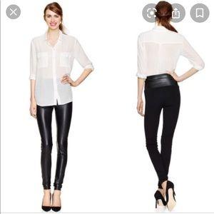 ARITZIA WILFRED FREE black faux leather leggings M